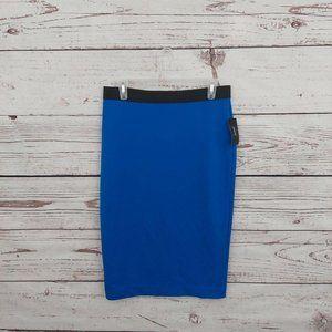 3/$30 Alfani Scuba Pencil Skirt Blue M L